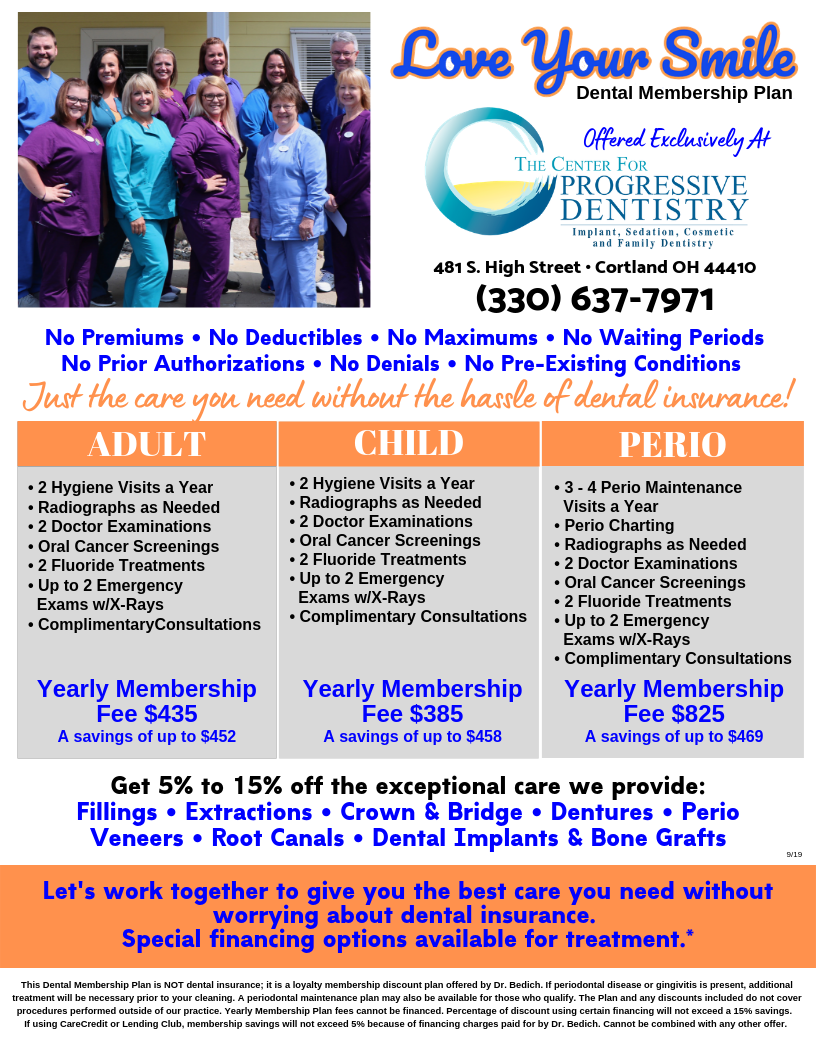 Center for Progressive Dentistry Dental Membership Plan